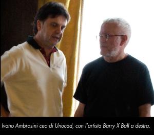 Ivano Ambrosini e l'artista Barry X Ball